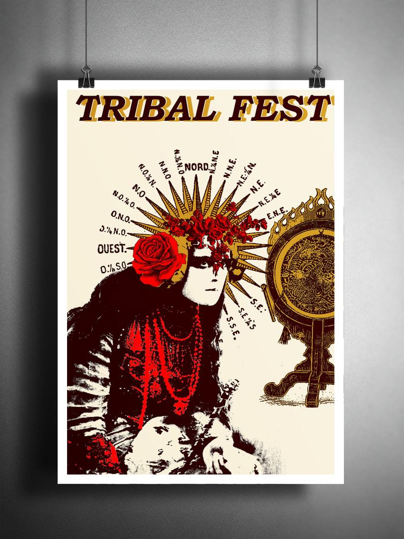Cartel para festival de baile Tribal Fusión 2