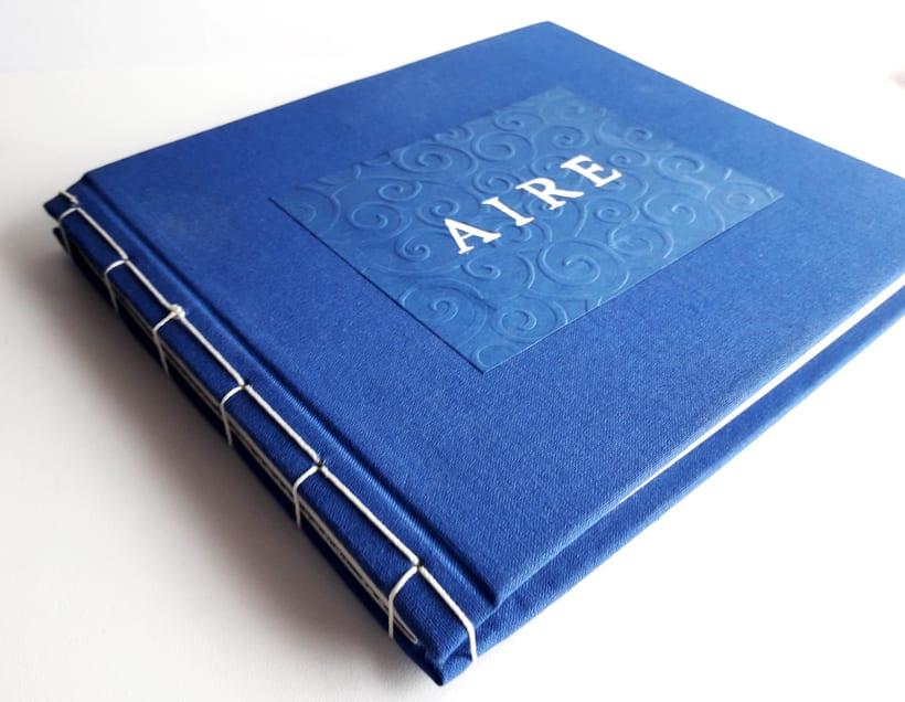 """Mi Proyecto del curso: Técnicas de Encuadernación DIY - Libro """"Aire"""" encuadernado con cosido japonés 1"""