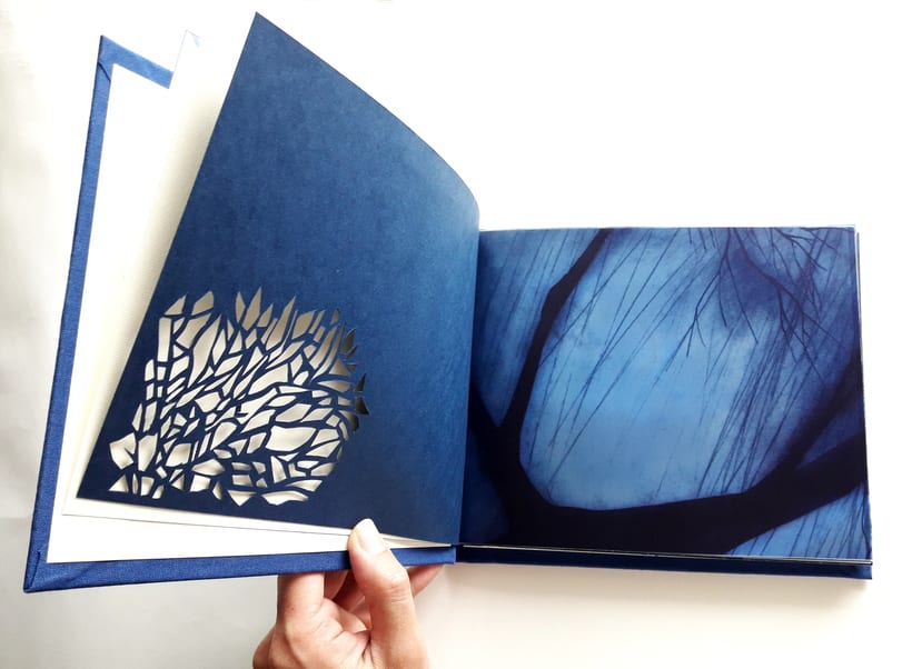 """Mi Proyecto del curso: Técnicas de Encuadernación DIY - Libro """"Aire"""" encuadernado con cosido japonés 3"""