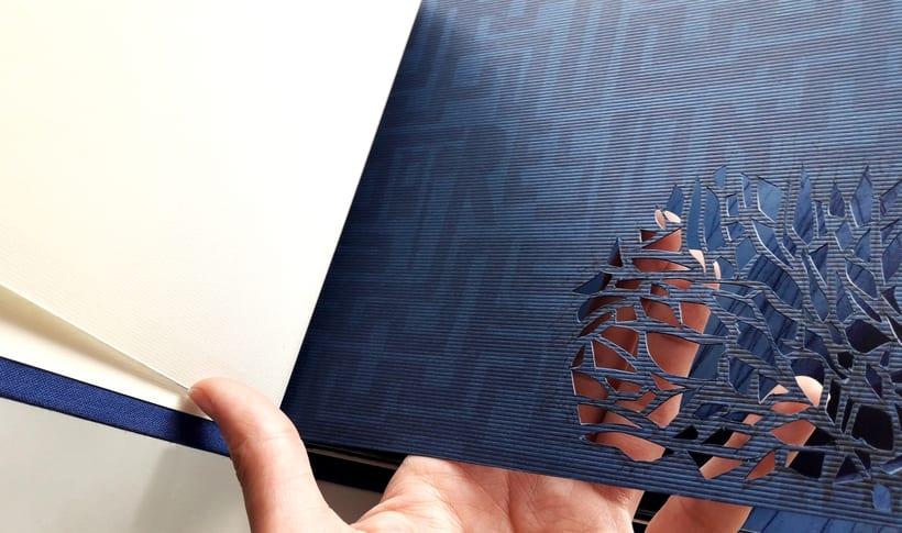 """Mi Proyecto del curso: Técnicas de Encuadernación DIY - Libro """"Aire"""" encuadernado con cosido japonés 4"""