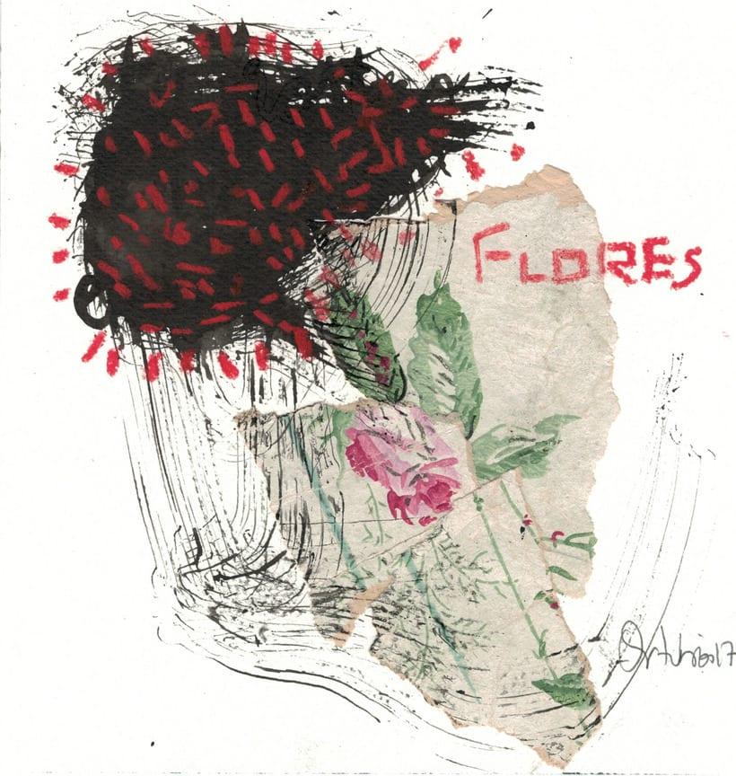 Flores, negros y rojos -1
