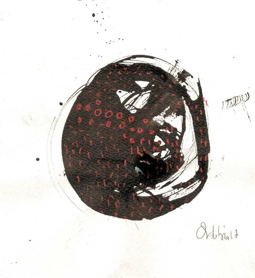 Rojos y negros sobre papel 0