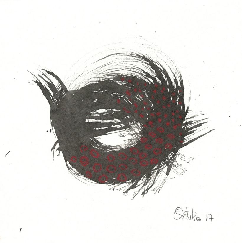 Rojos y negros sobre papel 2
