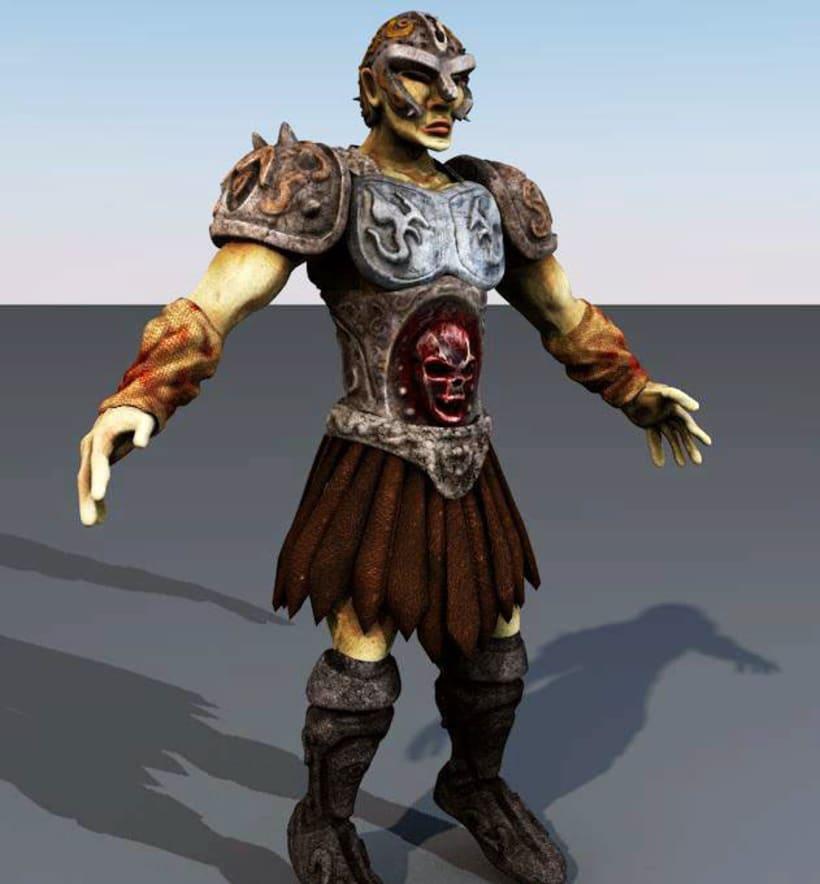 Guerrero - Personaje 3d 1