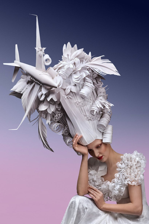 Pelucas barrocas de papercraft 6