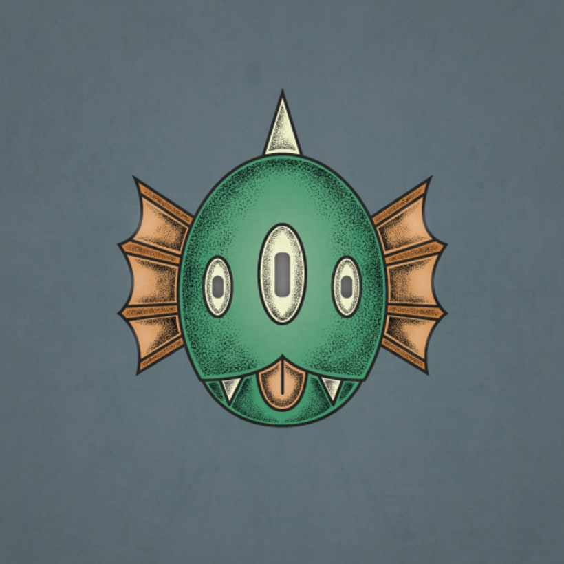 Diseños de dos monstruos de Halloween para tablas de skate 2