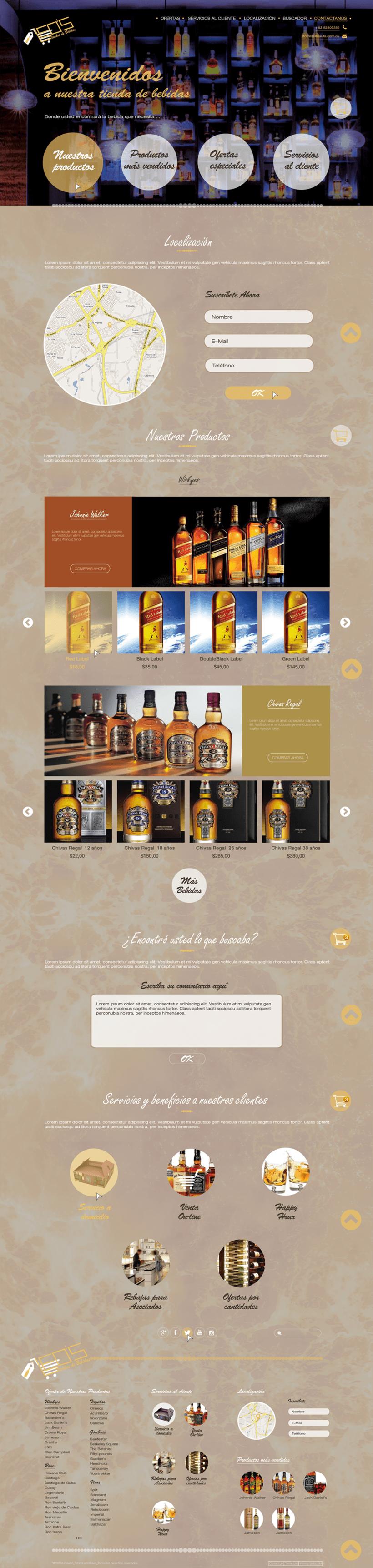 Diseño web para tienda de bebidas  -1
