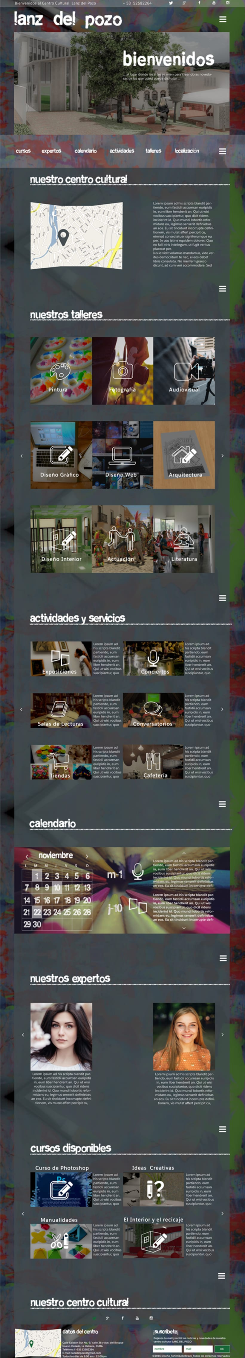 Diseño web para centro cultural Lanz del Pozo -1