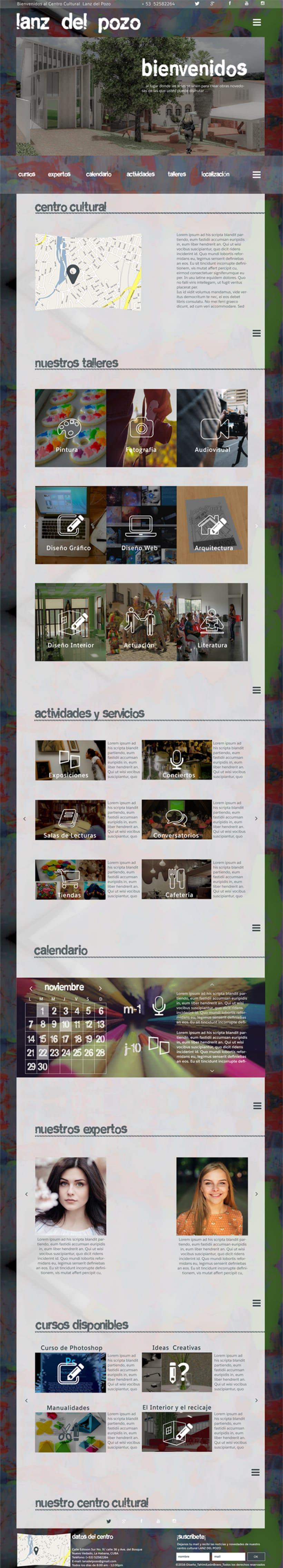 Diseño web para centro cultural Lanz del Pozo 0