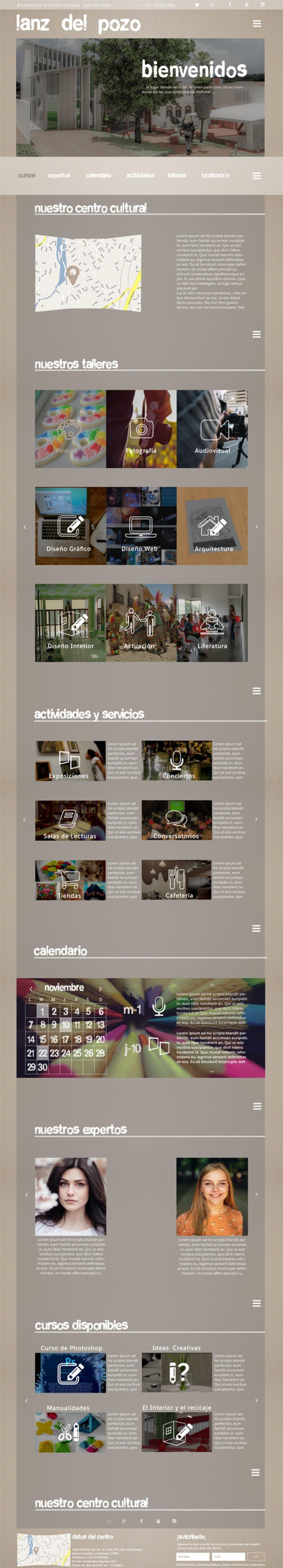 Diseño web para centro cultural Lanz del Pozo 1