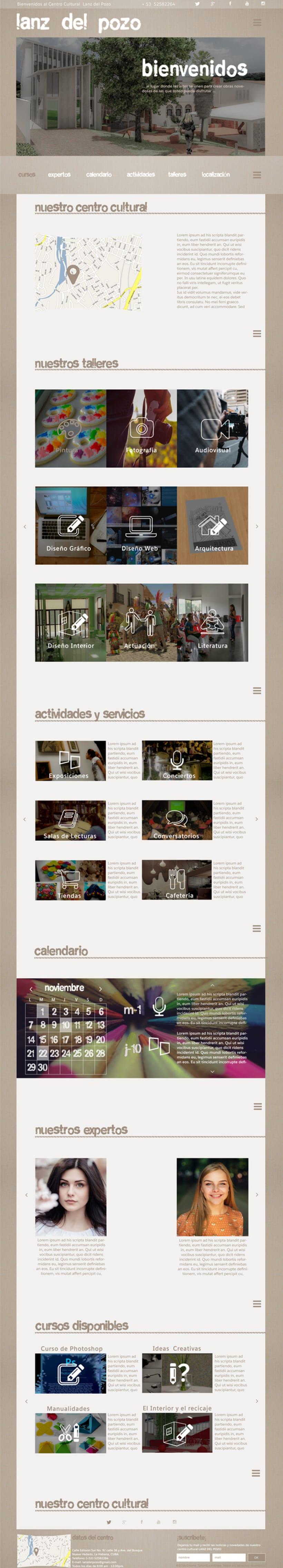 Diseño web para centro cultural Lanz del Pozo 2