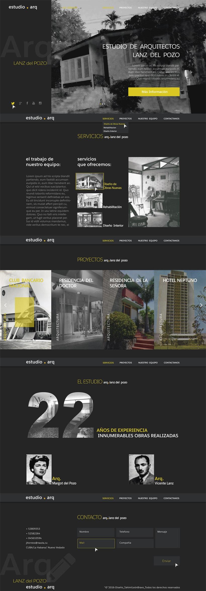 Diseño web para estudio de arquitectos Lanz del Pozo  -1