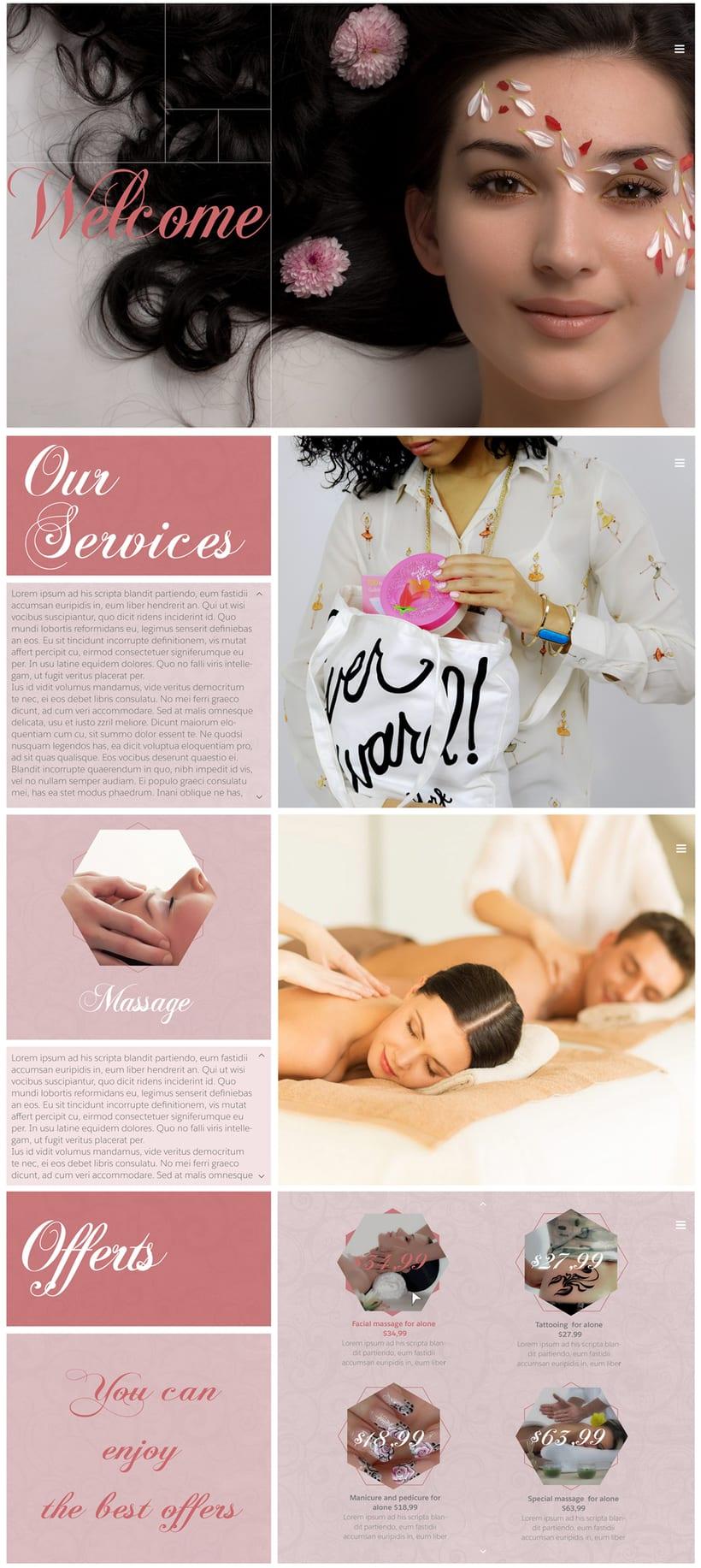 Diseño web para salon de belleza -1