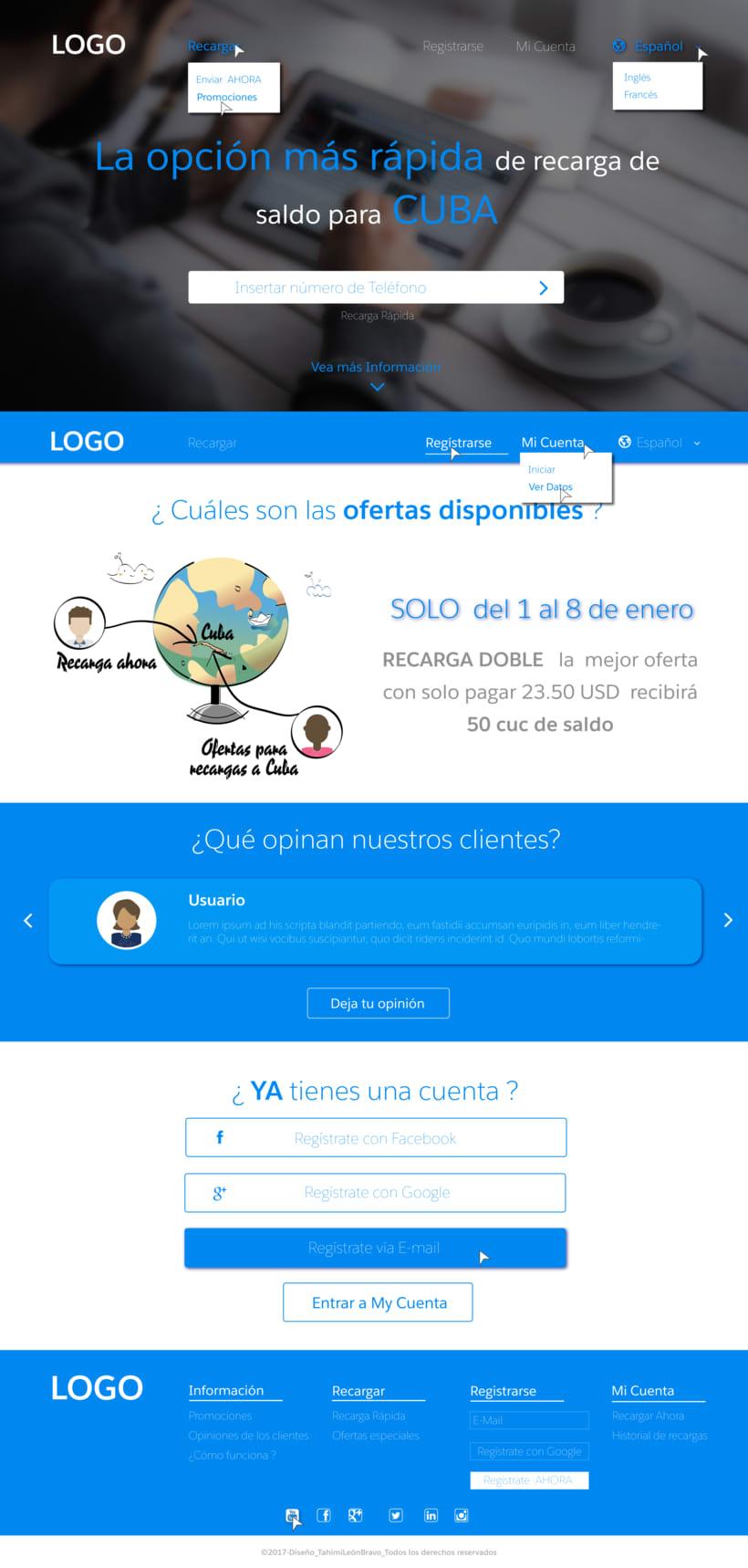 Diseño web para pagina de recarga de saldo -1