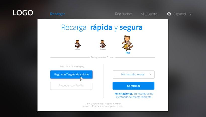Diseño web para pagina de recarga de saldo 2