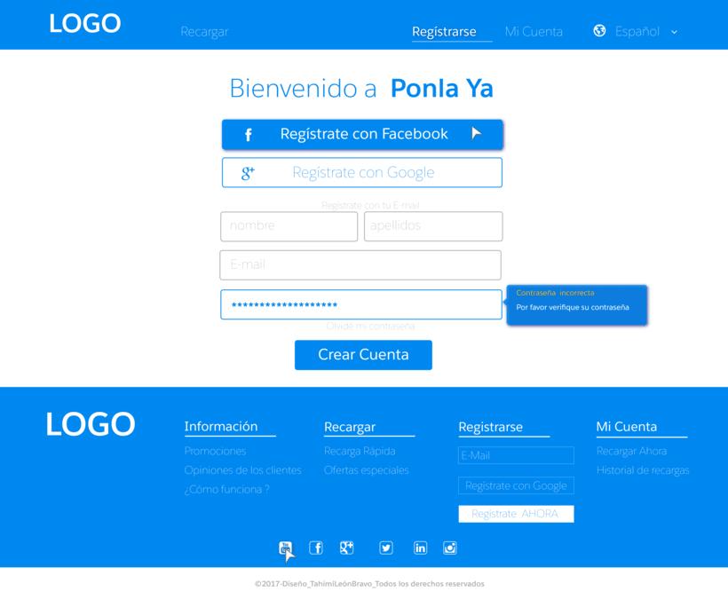 Diseño web para pagina de recarga de saldo 4