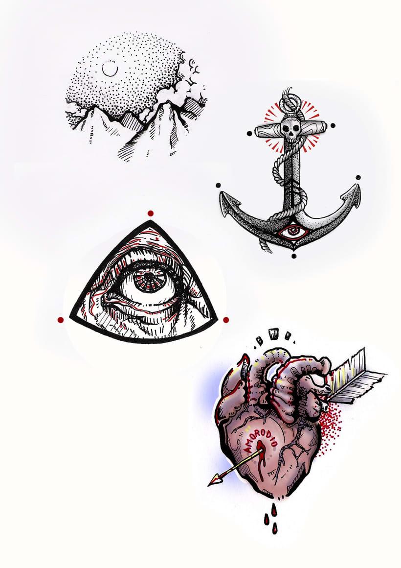 Vómitos creativos; Diseños para tatuar 3