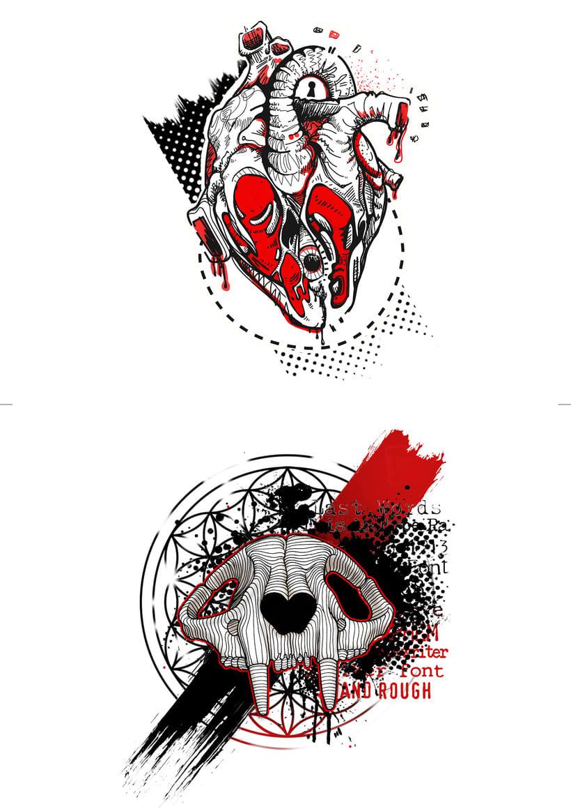 Vómitos creativos; Diseños para tatuar 5
