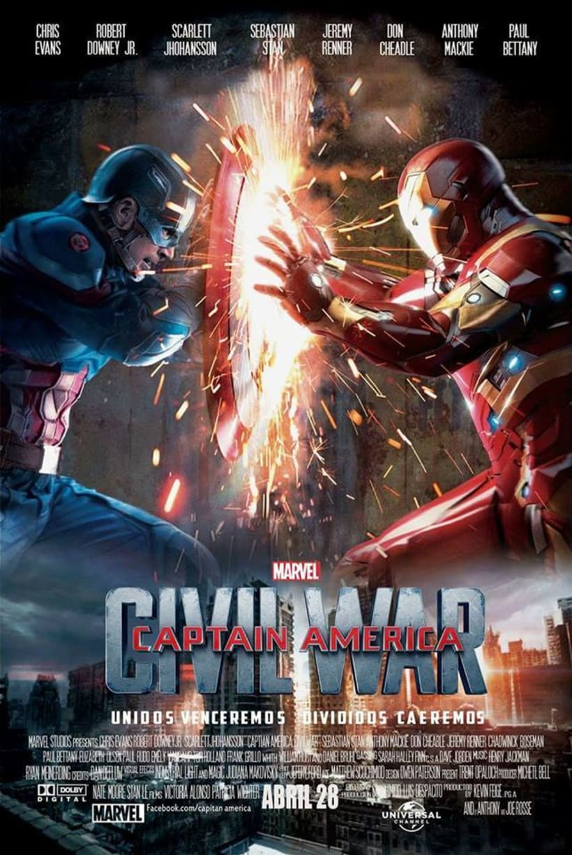 Diseño - Creacion portada de Pelicula - Civil War  -1