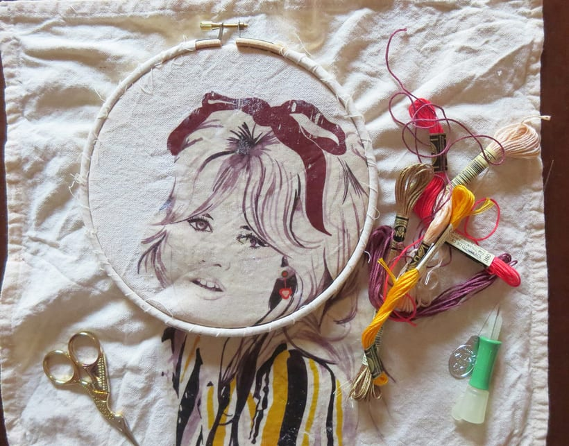 Embroidery illustration  8