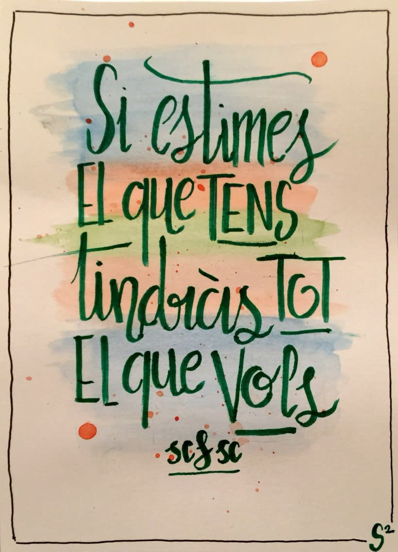 Watercolor, Lettering...provan! 1