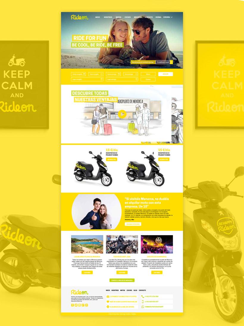 Branding empresa de alquiler de motos 2
