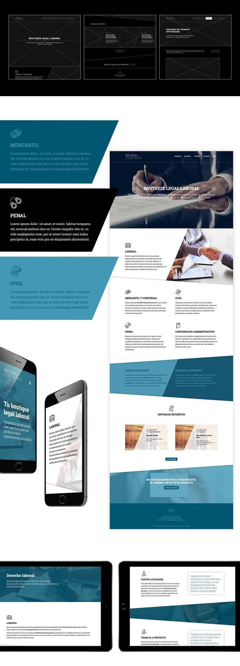 Branding y site corporativo para bufete de abogados 1