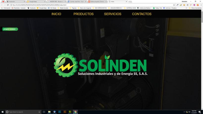 Mi Proyecto del curso: Diseño web responsive con Adobe Muse / Solinden Empresa de R.D 1