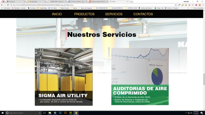 Mi Proyecto del curso: Diseño web responsive con Adobe Muse / Solinden Empresa de R.D 3