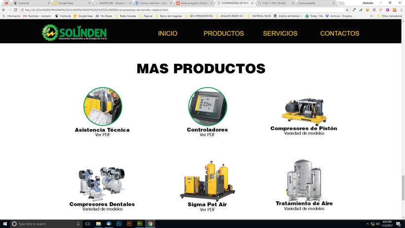Mi Proyecto del curso: Diseño web responsive con Adobe Muse / Solinden Empresa de R.D 7