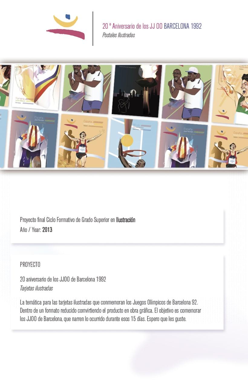 Postales Ilustradas - 20 aniversario de los JJOO Barcelona 92 0