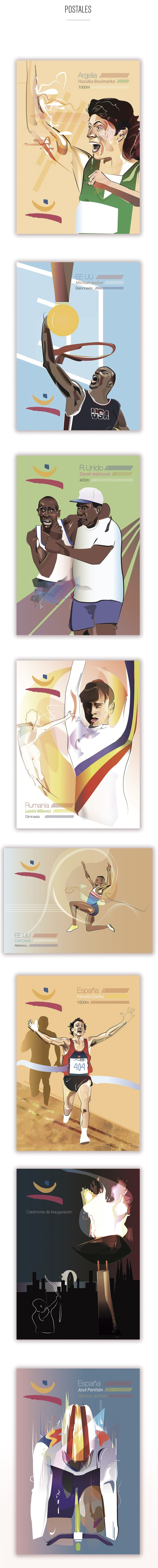 Postales Ilustradas - 20 aniversario de los JJOO Barcelona 92 1