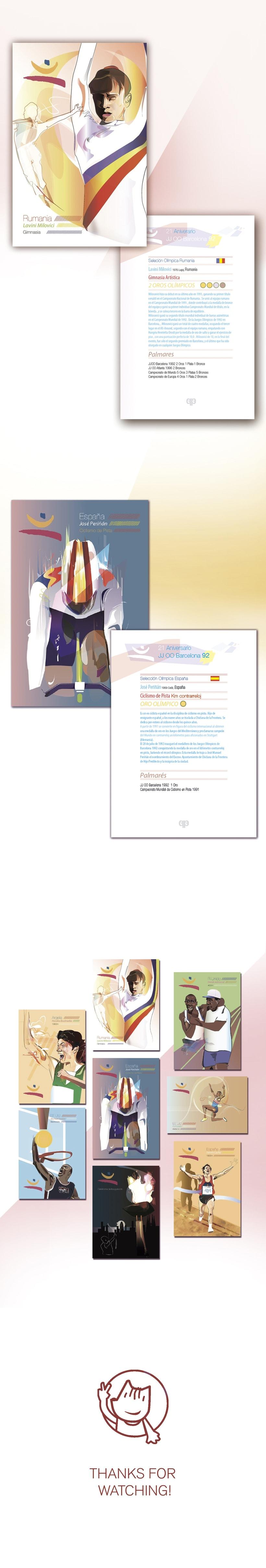 Postales Ilustradas - 20 aniversario de los JJOO Barcelona 92 2