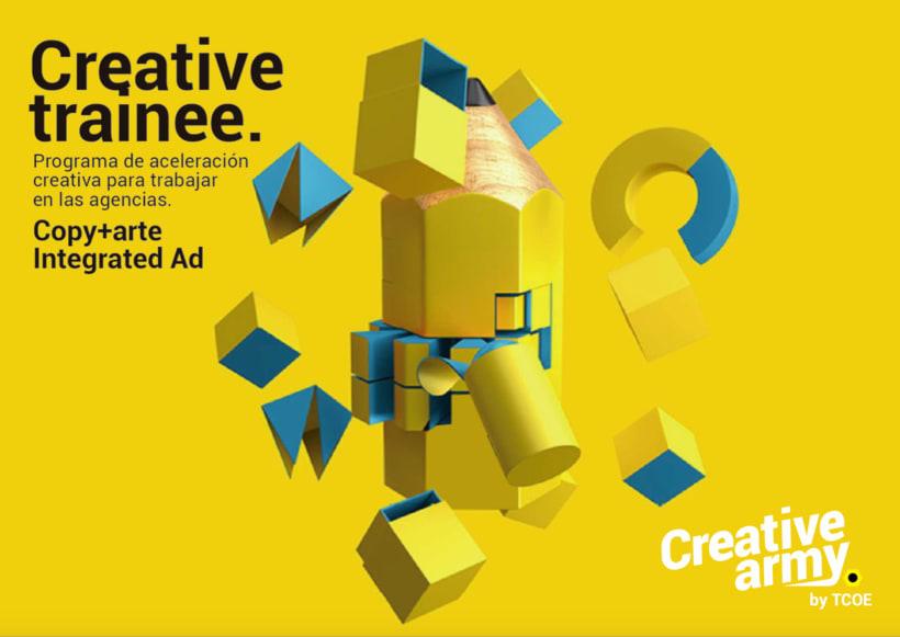 Beca 250€ Creative training. Un programa de aceleración creativa solo con directores creativos para que trabajes en las agencias. 1