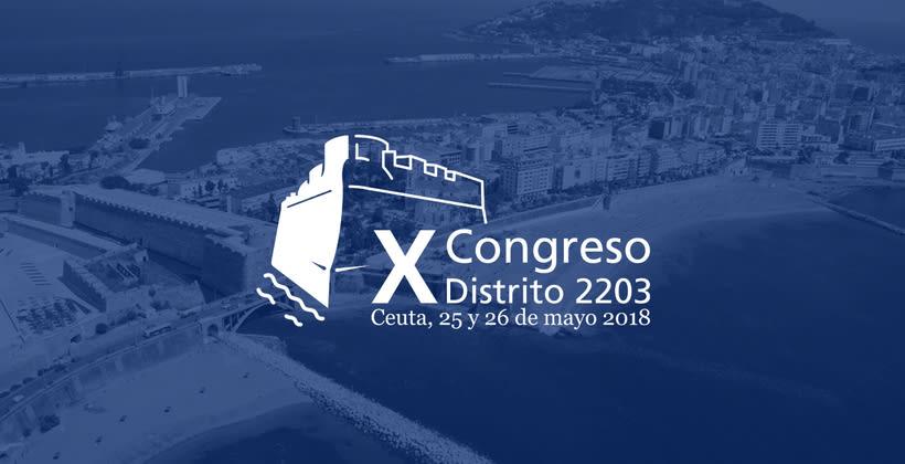X Congreso Distrito 2203 Rotary Club Logotipado 2