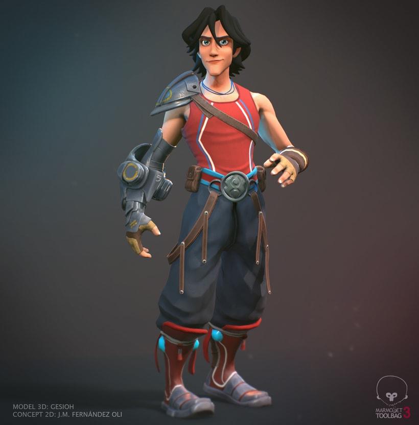 3D model character -1