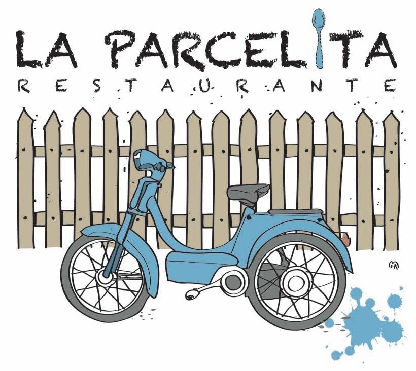 """Logotipo para Restaurante.""""La Parcelita"""" -1"""