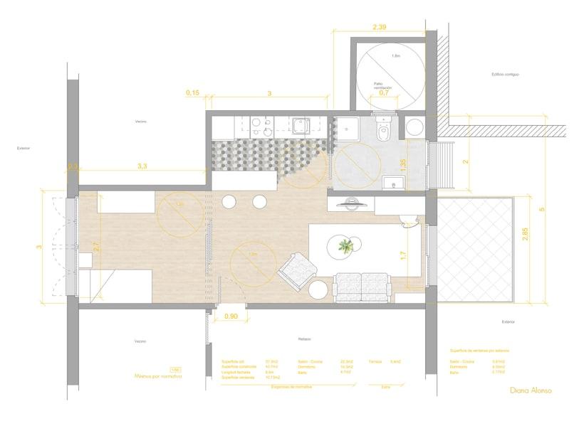 Vivienda mínima: apartamento de 36m2 1