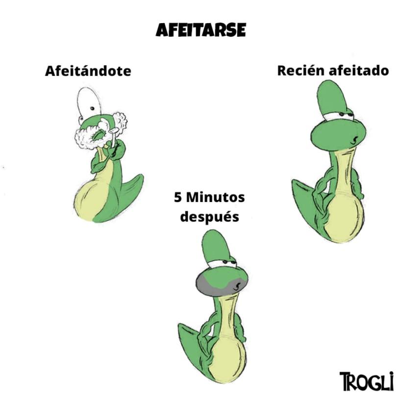 Ilustración Trogli (Afeitarse) 0