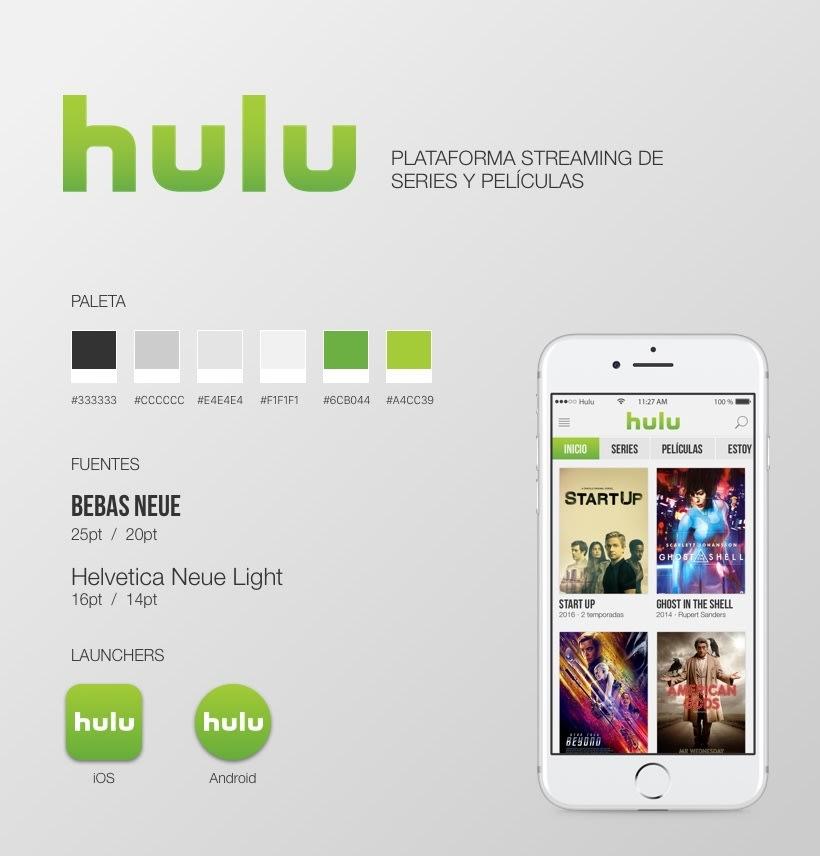Hulu APP propuesta | Domestika