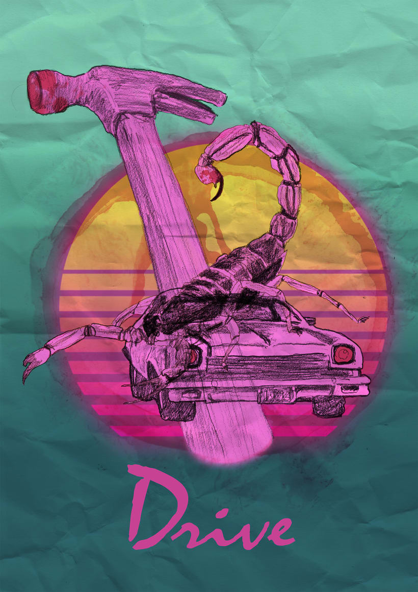Cartel homenaje Drive 0