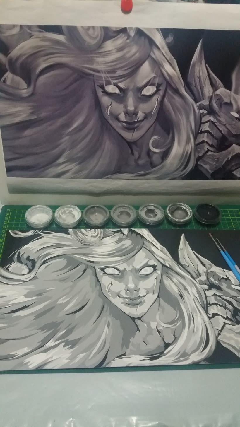 Pintado escala de grises 0