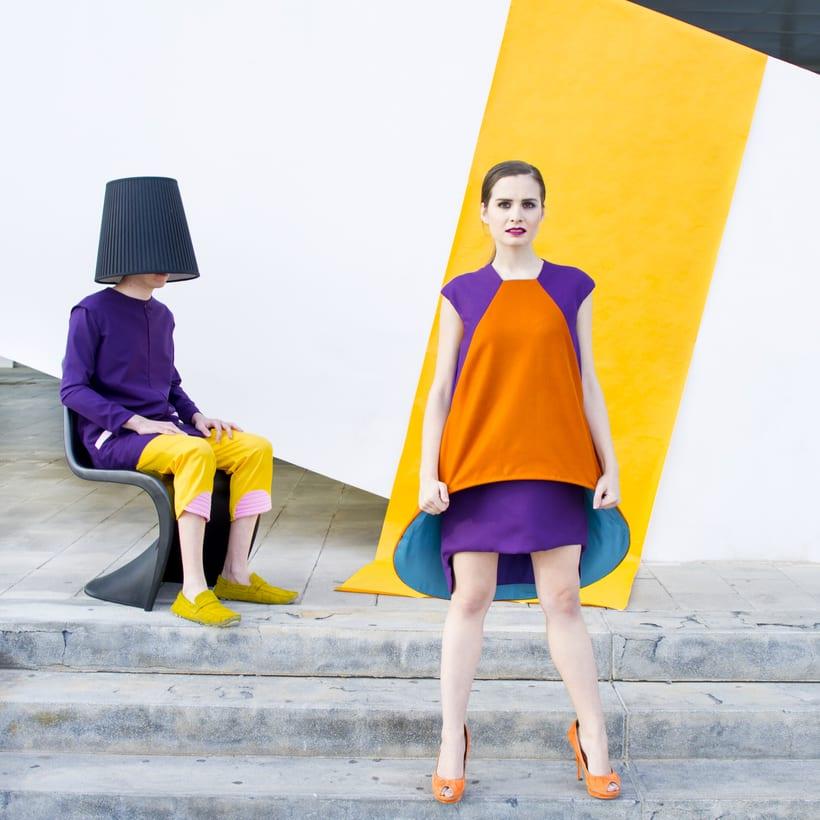 VISIONA  colección de autor, inspirada en el Pop Art de los interiores de Verner Panton, utilizando  los colores vivos y formas geométricas puras con las cuales creaba sus interiores. 8