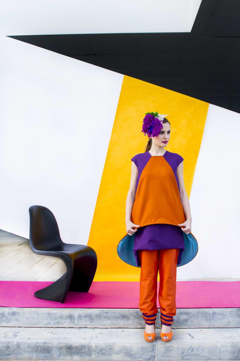 VISIONA  colección de autor, inspirada en el Pop Art de los interiores de Verner Panton, utilizando  los colores vivos y formas geométricas puras con las cuales creaba sus interiores. 10