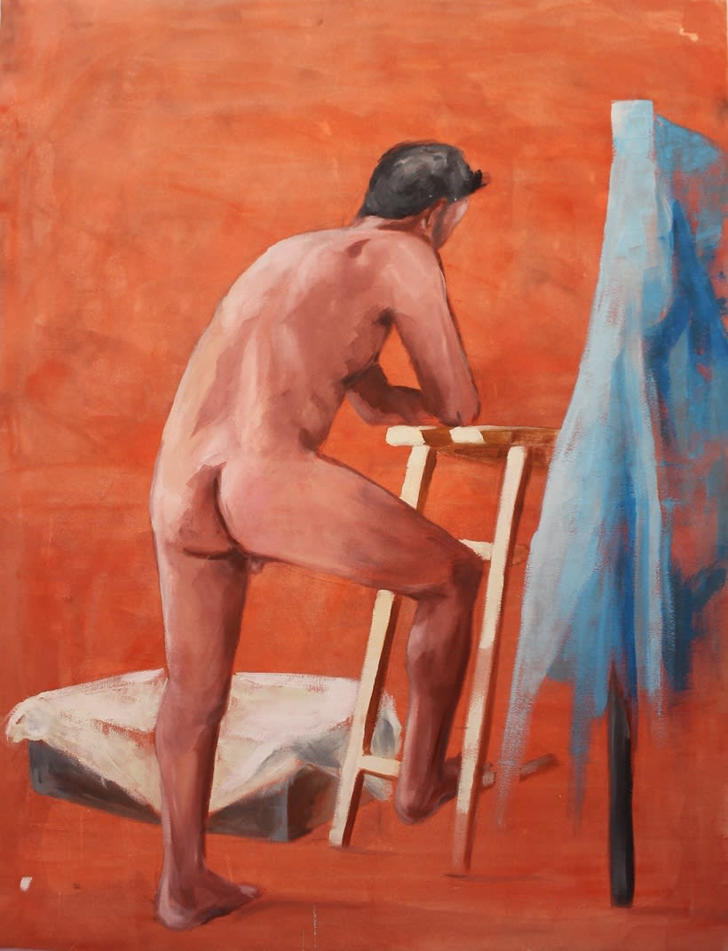 Hombre desnudo. Óleo sobre lienzo 116 x 89 cm -1
