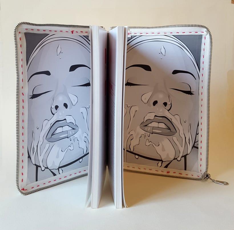 Porno para mujeres (2016. Libro de artista, libro intervenido) 3