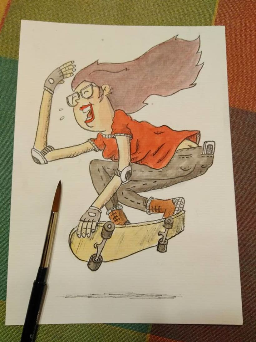 POSTALES - SKATEBOARD GIRLS 0