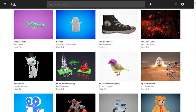 Poly: el catálogo de objetos 3D libres de Google 3