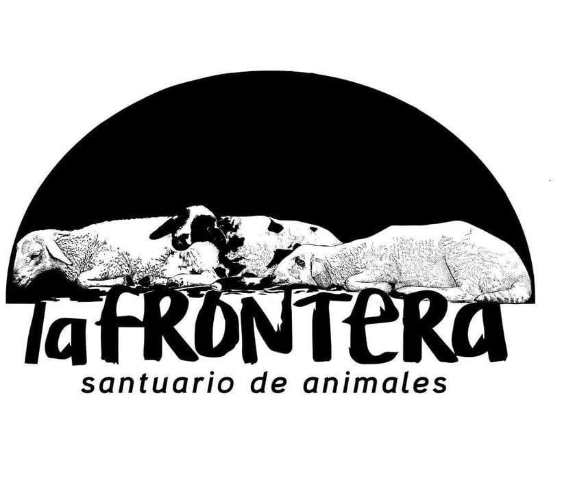 """Ilustración para diseño de camiseta para el santuario de animales """"La frontera"""" 0"""