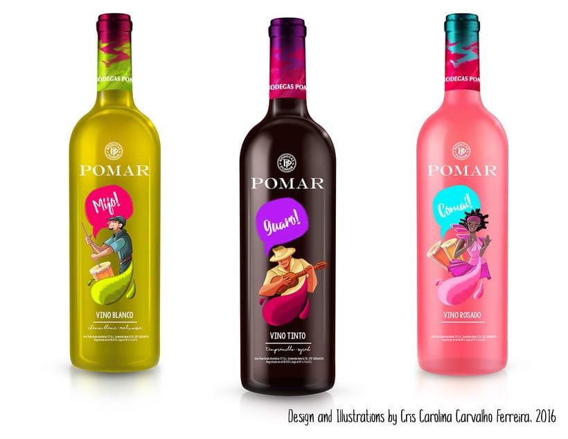 Illustrated Branding: Varietales Pomar 0